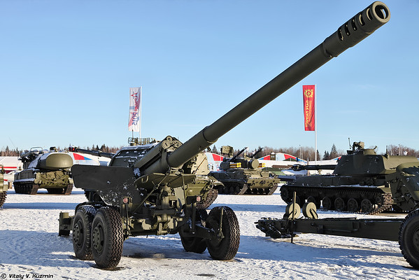 152-mm arma 2A36 Hyacinthe-B [152 milímetros arma 2A36 Giatsint-B)