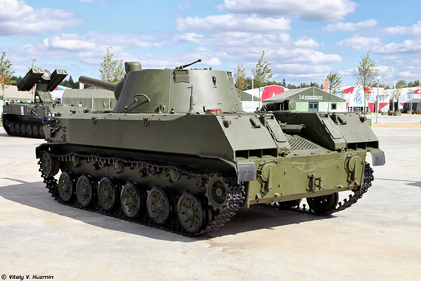 auto-propelido artilharia arma 2S9 Nona-S [120 milímetros automotora arma 2S9 Nona-S)